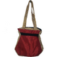 Fancy Cotton hand bag (Red and Gold) From Kokila Handbags