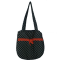 Fancy Cotton hand bag (Black) From Kokila Handbags