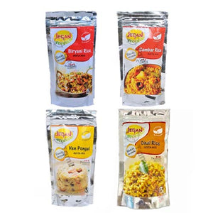 4 varieties of instant rice mix | From Jegan Foods