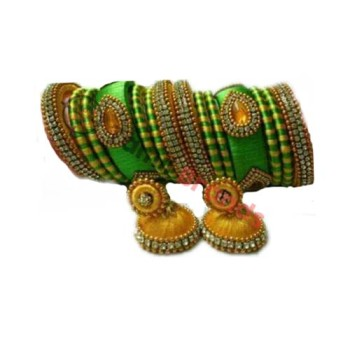 Silk thread Bangles and Earnings (From Silk thread Jewellers)
