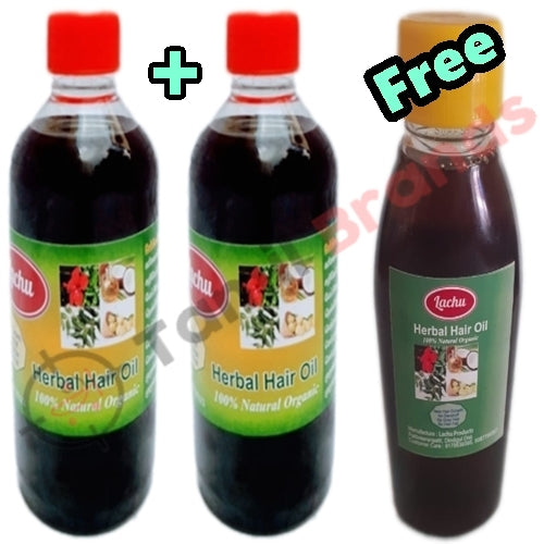 Buy 250ml of 2 Home made hair oil and get 125ml free | Lachu Products - Tamil Brands