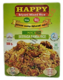 Happy Briyani Mixed Seeragasamba Rice 500g Asian Marketting