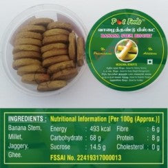 Valaithandu Biscuits (Banana Stem) 170g From Pot foods