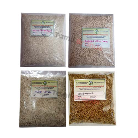 Grinding Idly dosa Batter Ingredients (Kazhani Farmers Producer Company Ltd) | Free Delivery