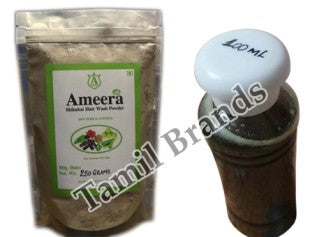 Herbal Hair Wash Shikakai Powder 250g & Herbal Hair oil 100ml Ameera Global exports