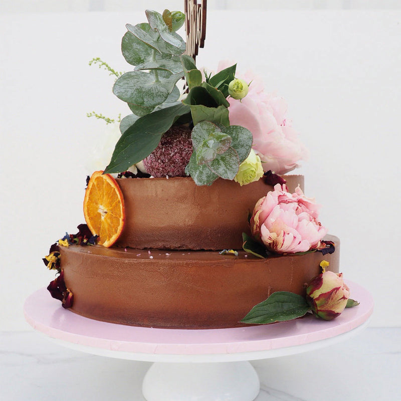 Two Tiered Statement cake