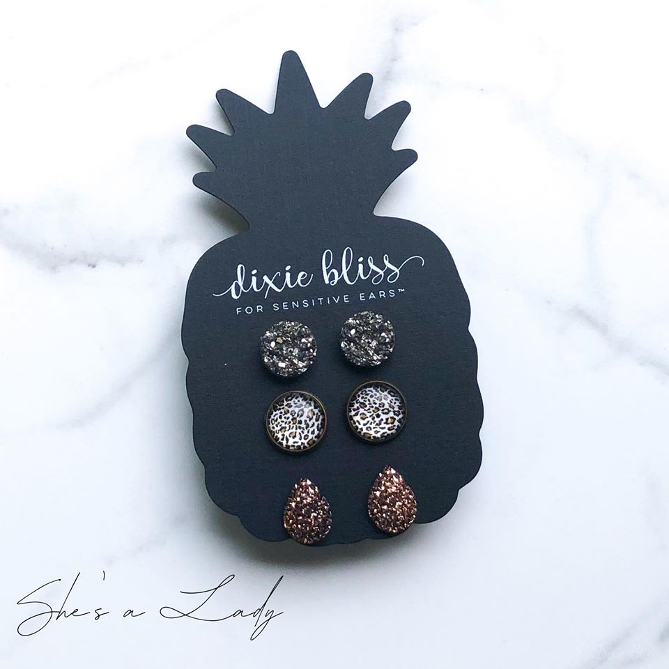 Lady | Earrings for Sensitive Ears - Sandy Bums Boutique