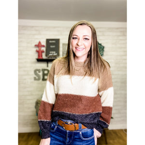 Janey | Striped Sweater - Sandy Bums Boutique