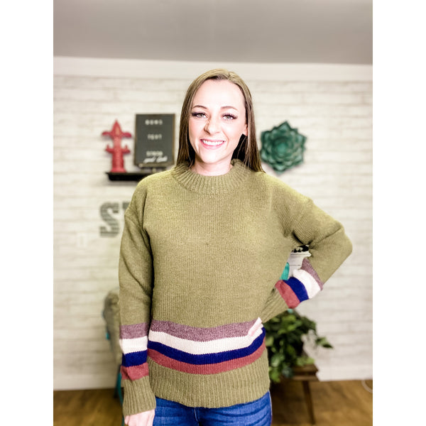 Mary | Crew Neck Sweater - Sandy Bums Boutique