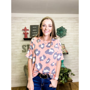 Gracie | Leopard Blouse - Sandy Bums Boutique