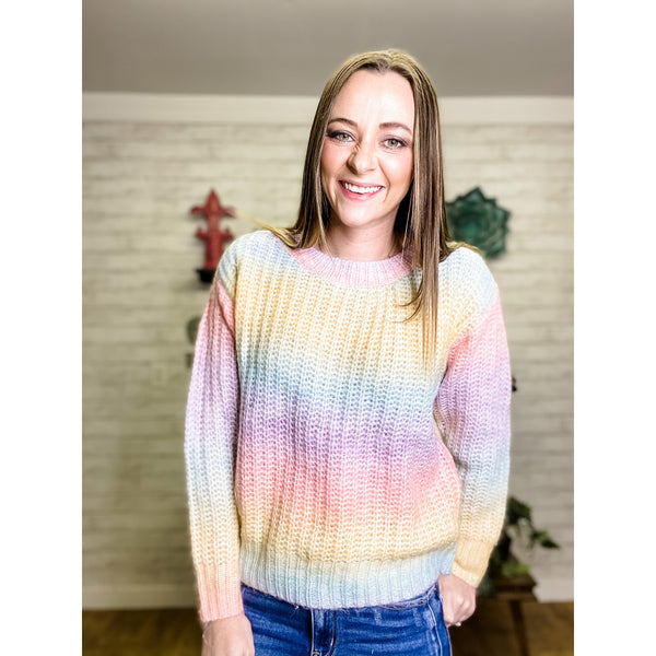 Rainbow | Crew Neck Sweater - Sandy Bums Boutique
