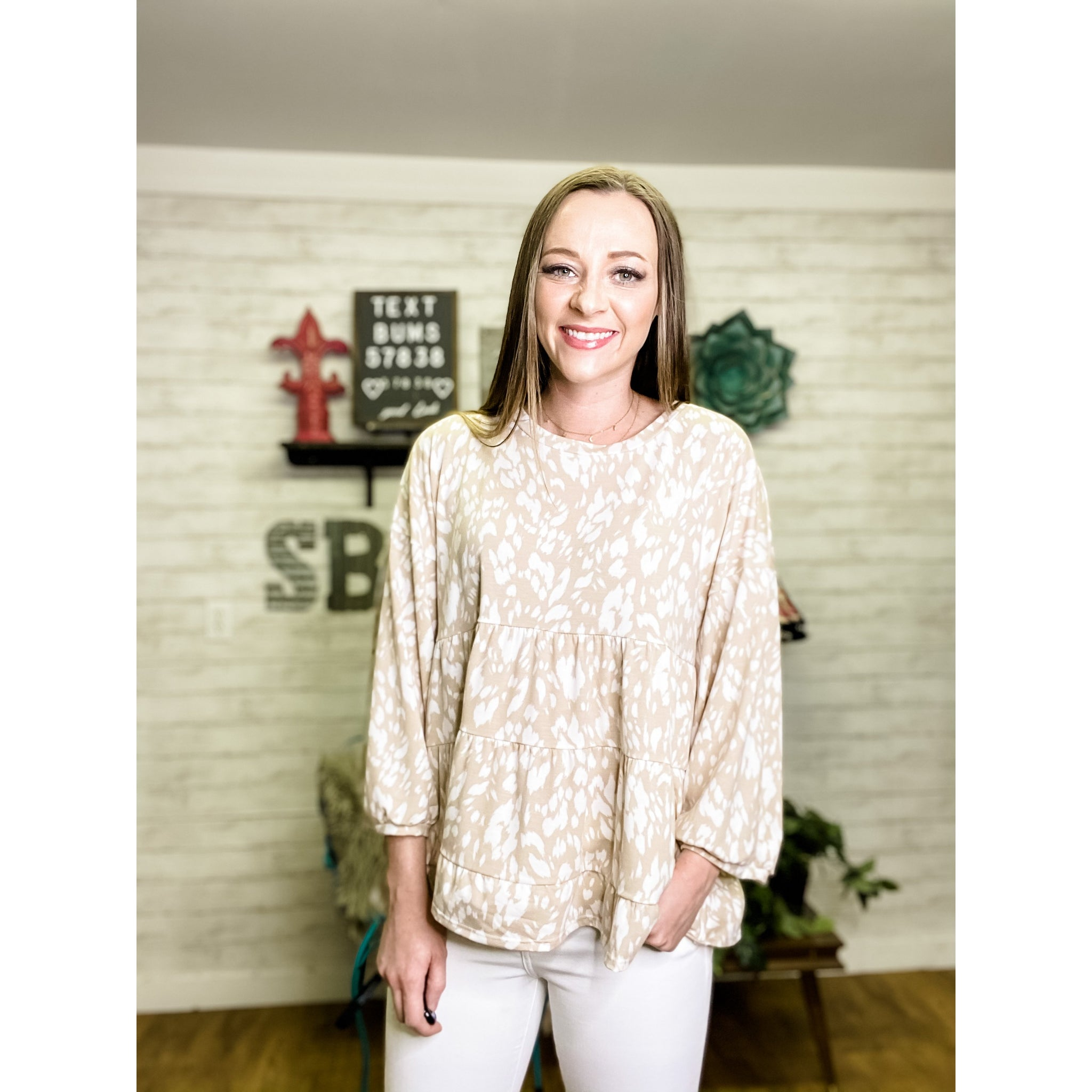 Khloe | Long Sleeve Blouse - Sandy Bums Boutique