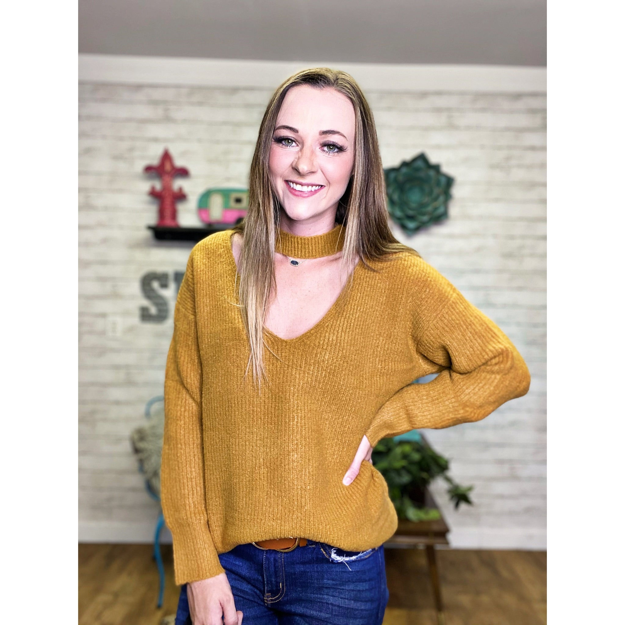 Jolene | V Neck Sweater - Sandy Bums Boutique