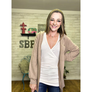 Earthy Beige Cardigan - Sandy Bums Boutique