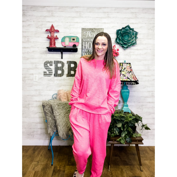 Hot Pink | Lounge Wear Set - Sandy Bums Boutique