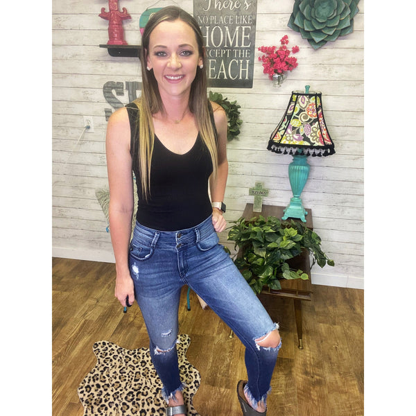Kat | Ripped Jeans - Sandy Bums Boutique