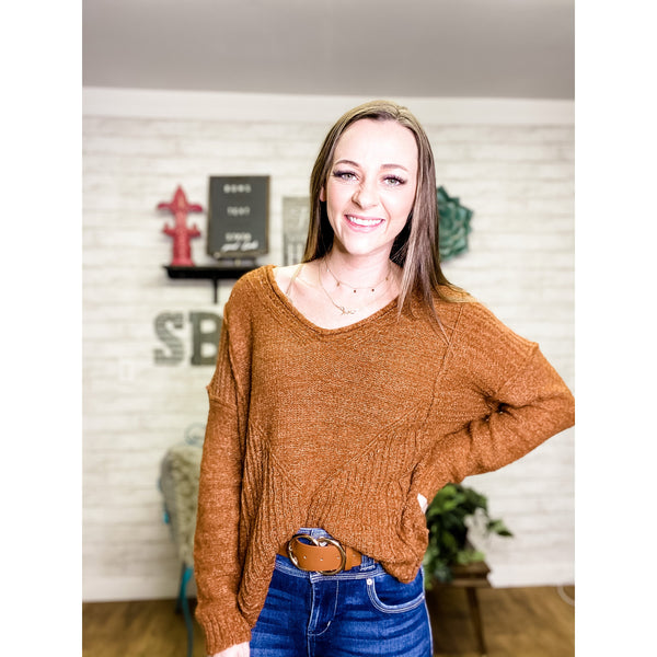 Emily | V Neck Sweater - Sandy Bums Boutique