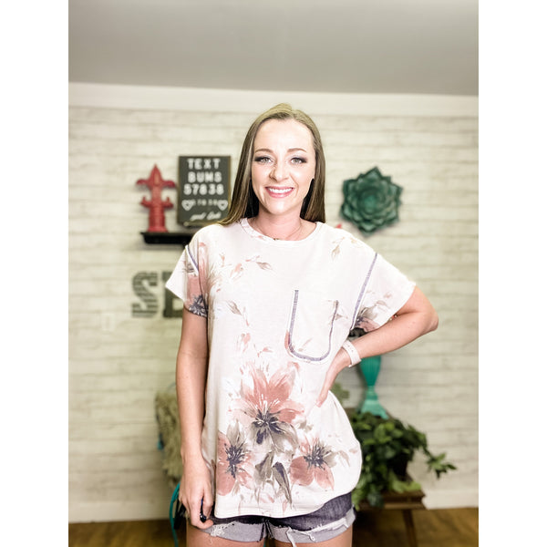 Ivory | Floral Shirt for Women - Sandy Bums Boutique