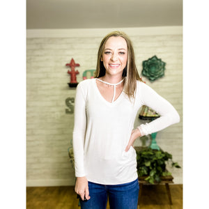 Long Sleeve V Neck - Sandy Bums Boutique