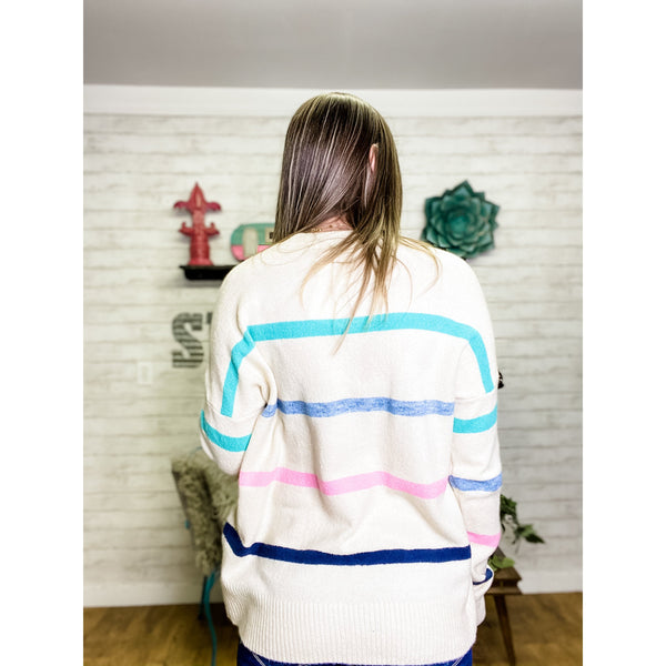 Aria | Striped Sweater - Sandy Bums Boutique