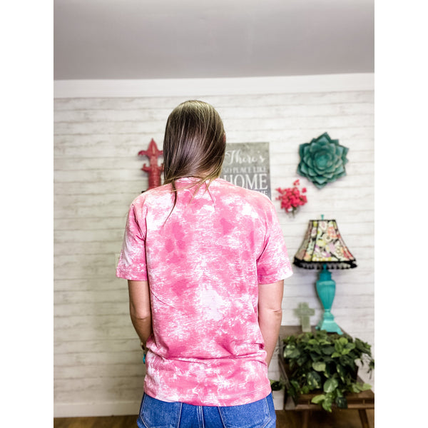 Pink Lips | Tie Dye Shirt - Sandy Bums Boutique