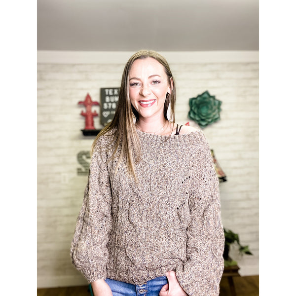 Helda | Off the Should Sweater - Sandy Bums Boutique