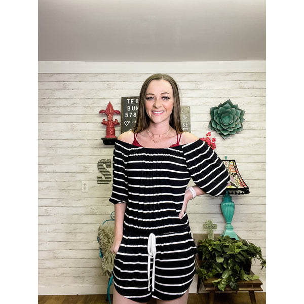 Madie | Black Romper - Sandy Bums Boutique