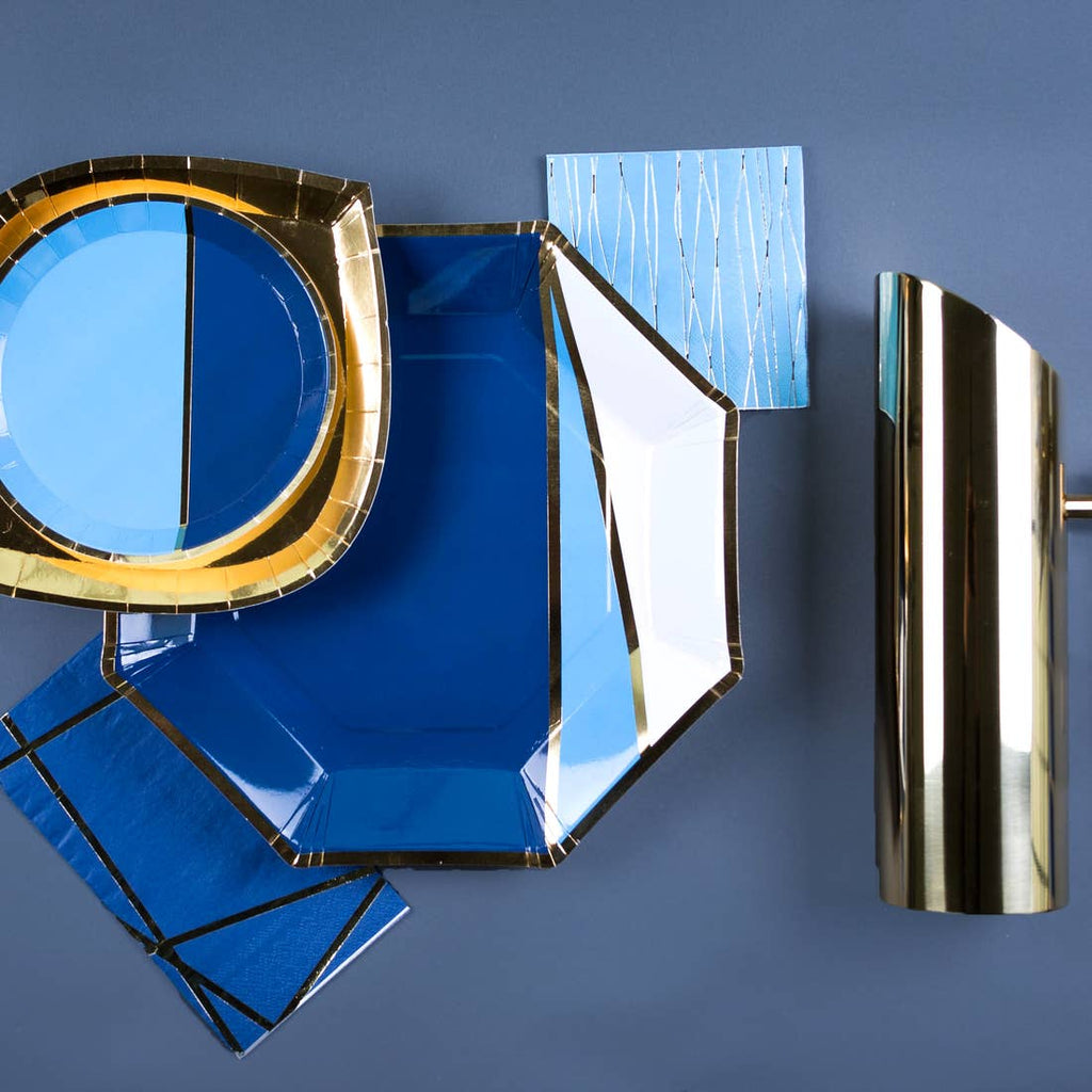 Blue Modern Charger Plates