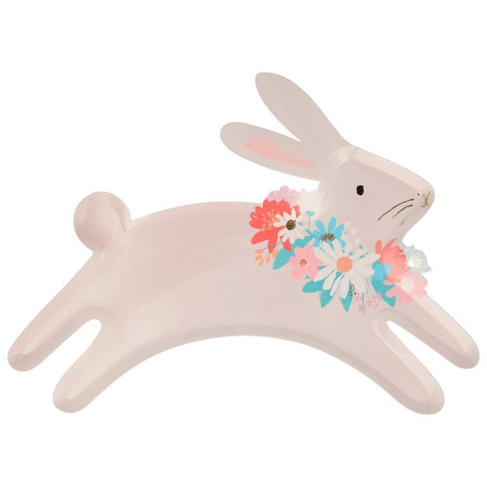 Spring Leaping Bunny Plates