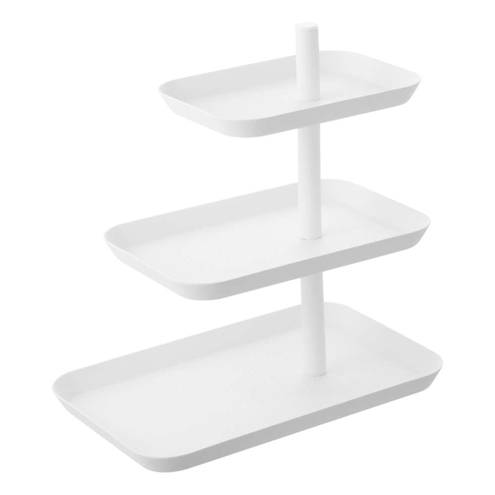 3 tier white serving tray