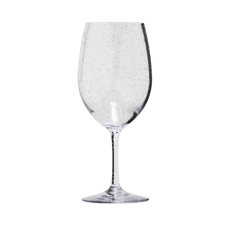 Silver Sparkle Acrylic Wine Glass