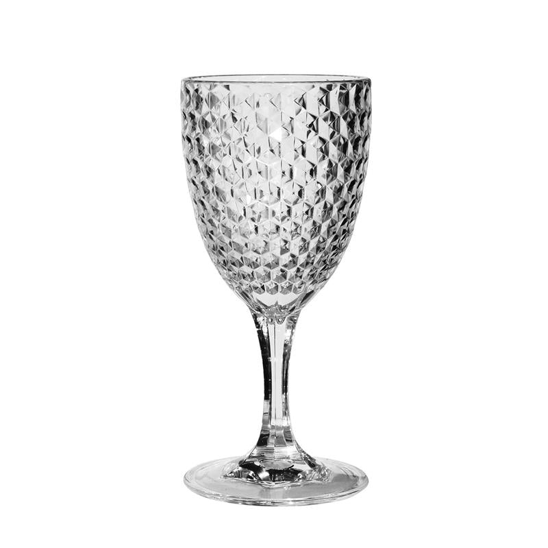 Clear Pattern Acrylic Wine Glass