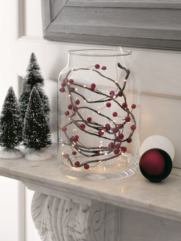 Berry Red Christmas String Lights