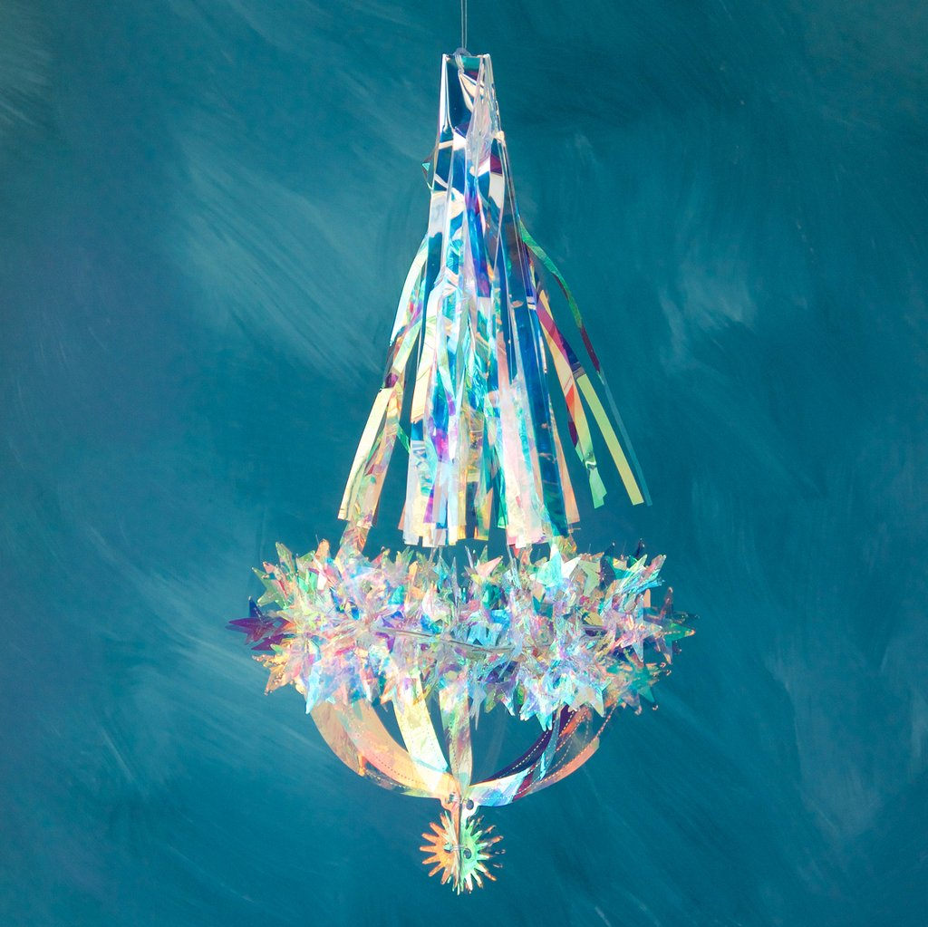 Small Iridescent Chandelier- Star