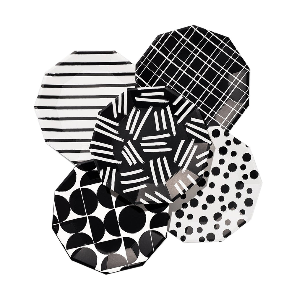 Black and White Pattern Plates