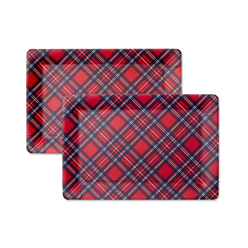 Holiday Plaid Serving Trays