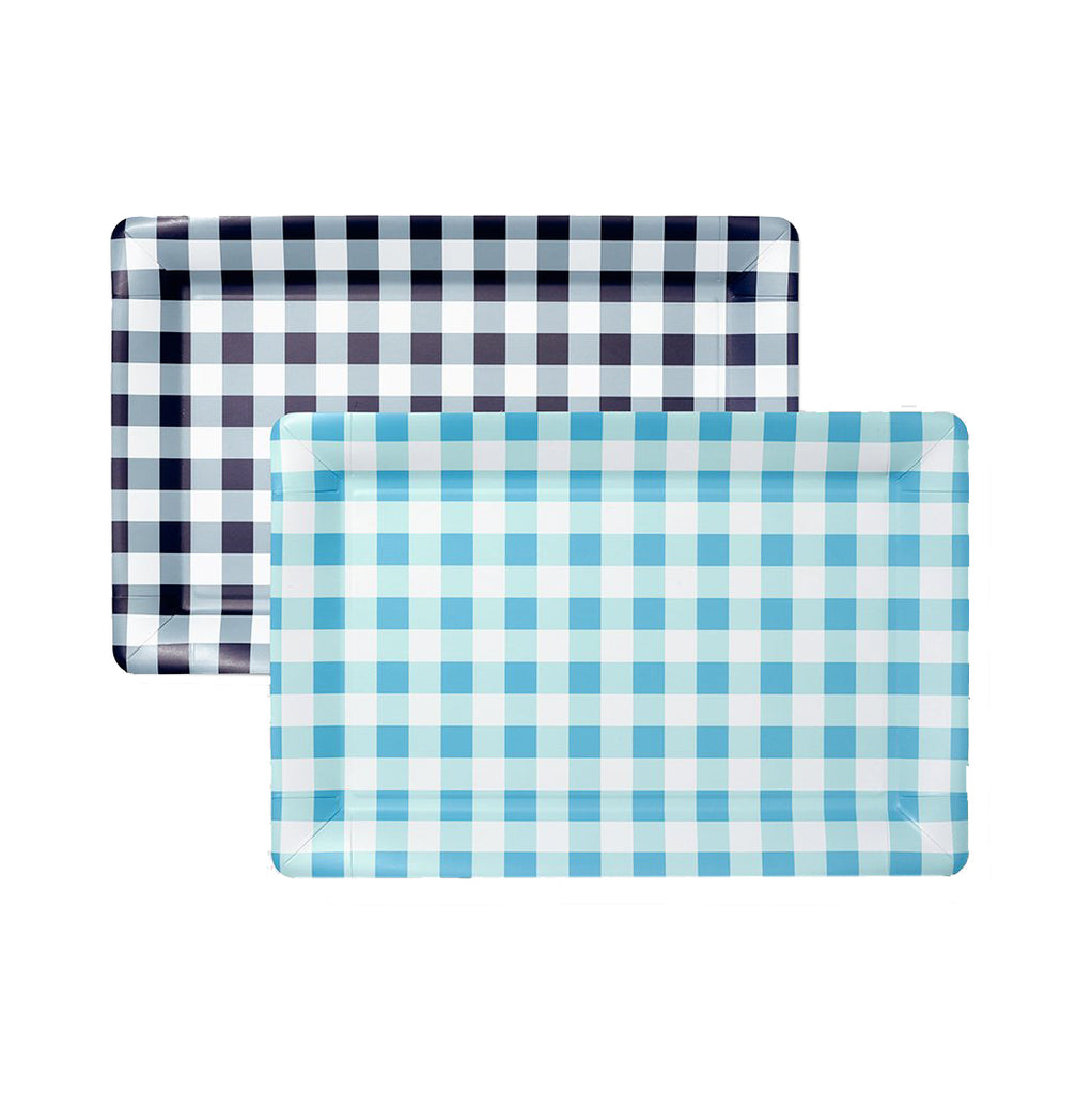 Gingham Serving Trays