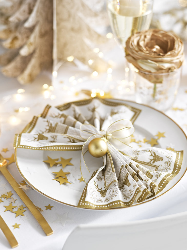 Party Porcelain Gold Napkins