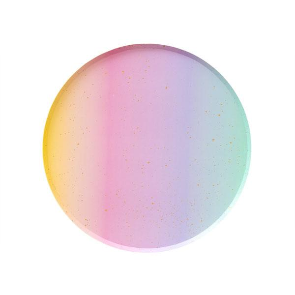 Rainbow Ombre Small Plates