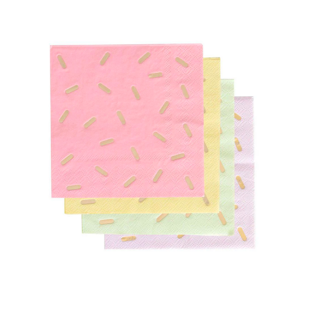 Ice Cream Sprinkle Pastel Napkins