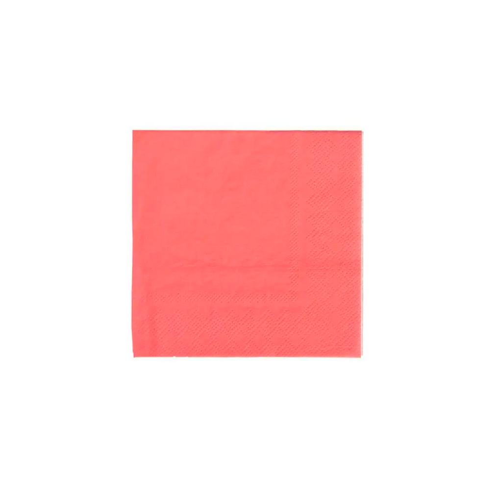 Coral Cocktail Napkins