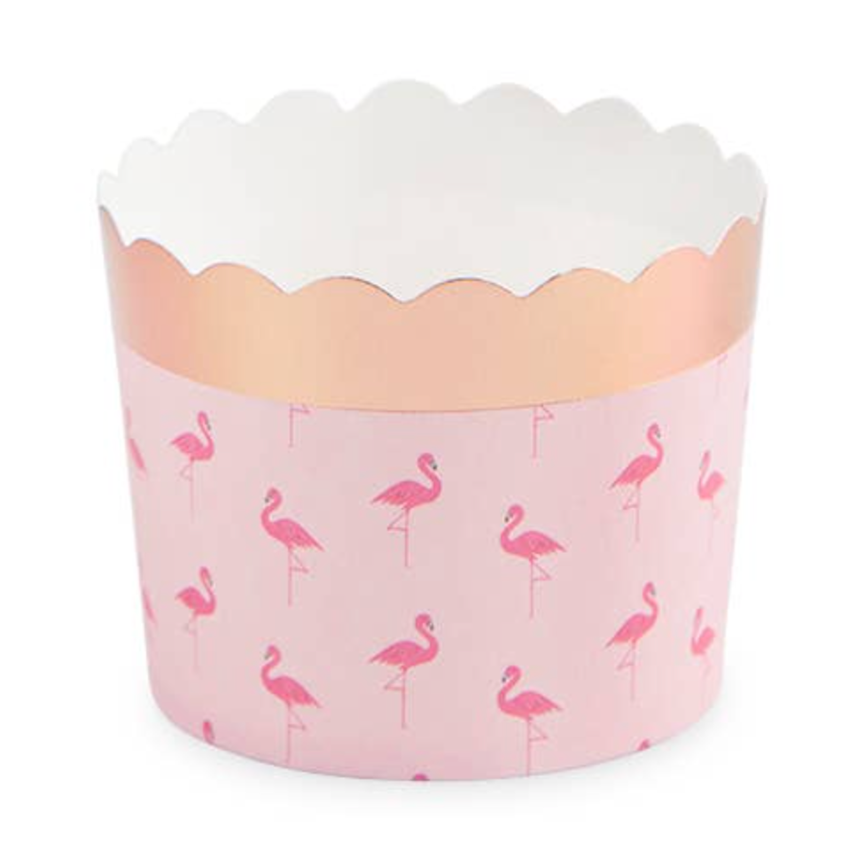 flamingo pattern treat cups