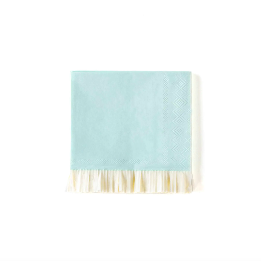 Blue Fringed Napkins