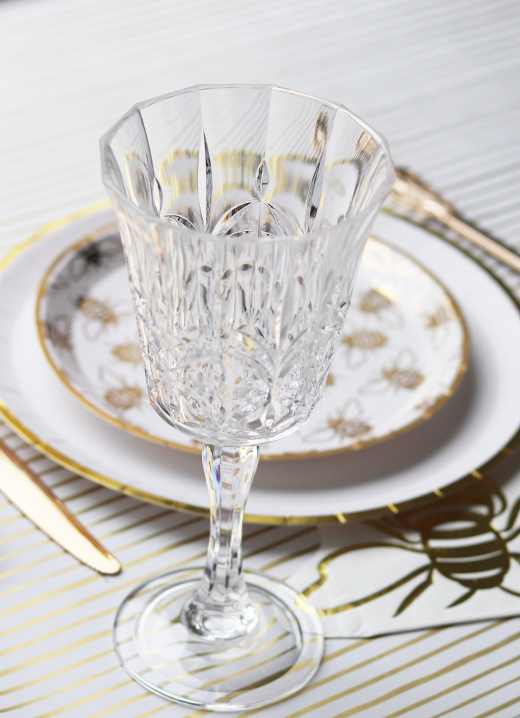 Cut Crystal Acrylic Wine Glass