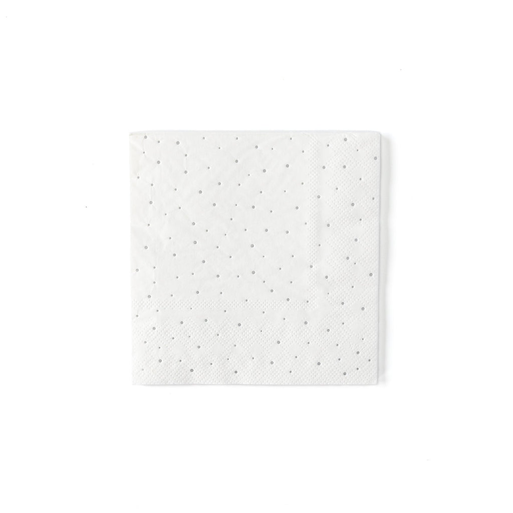 Winter White Mini Dot Napkin