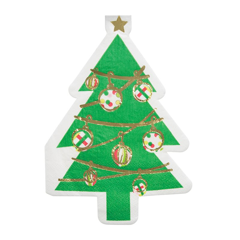 Large Christmas Tree Shaped Napkins