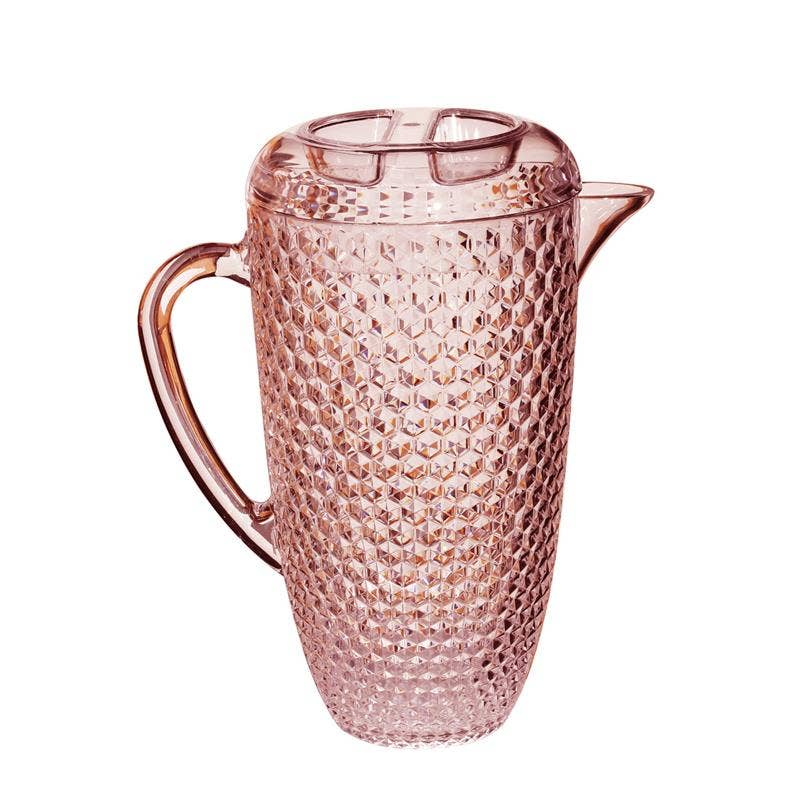 Pink Diamond Pattern Pitcher