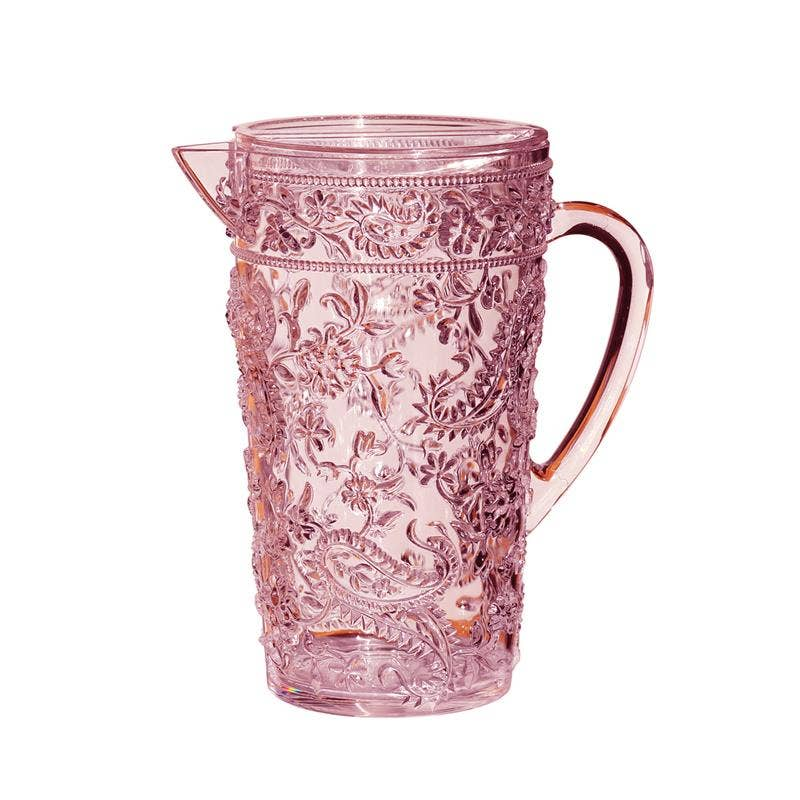 Pink Floral Design Pitcher