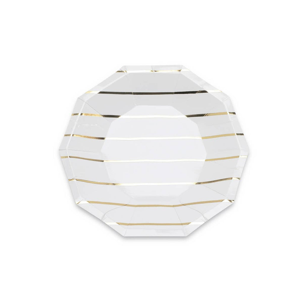 Frenchie Gold Striped Small Plates