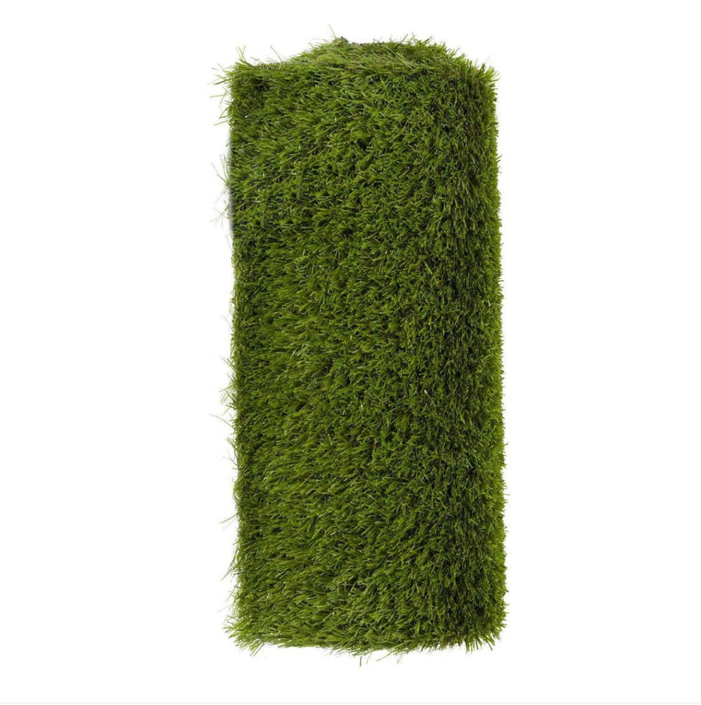faux grass table runner